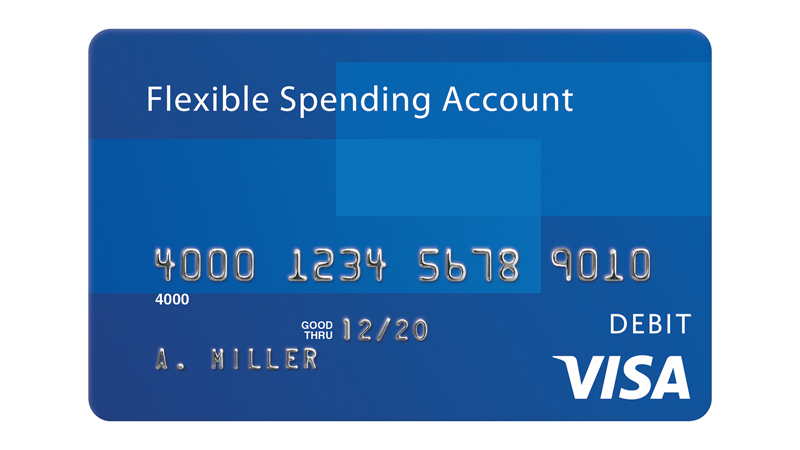 Visa Flexible Spending Account debit card.