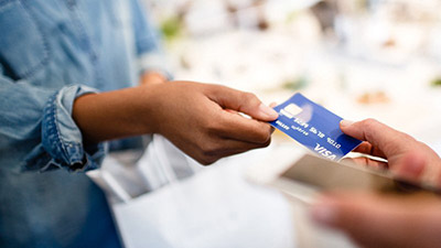 Making payment with a Visa card